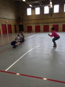Practicing squats!