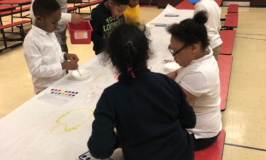 Watercolors at Barrett Afterschool
